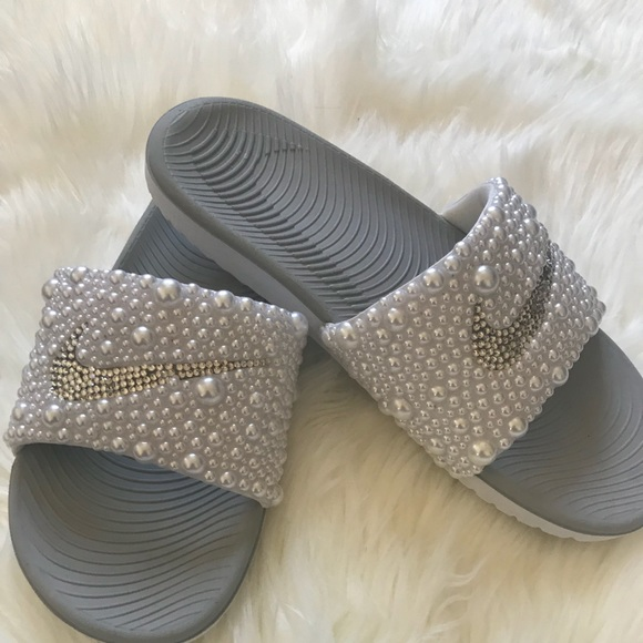 b090ea2f304fa Custom Rhinestone Nike Slides